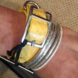 .NWT Monika Chiang double wrap bracelet reptile